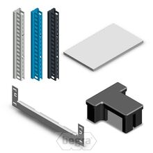 Fachbodenregal Medium Duty aus Metall - Lose Elemente