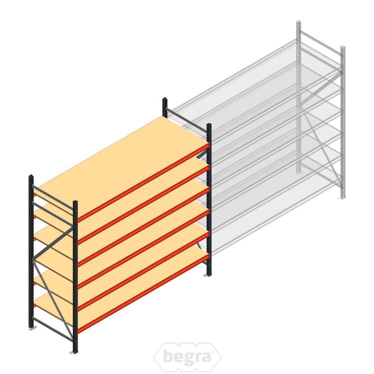 Anfangabschnitt AR Weitspannregal 2000x2700x800 - 6 Ebenen