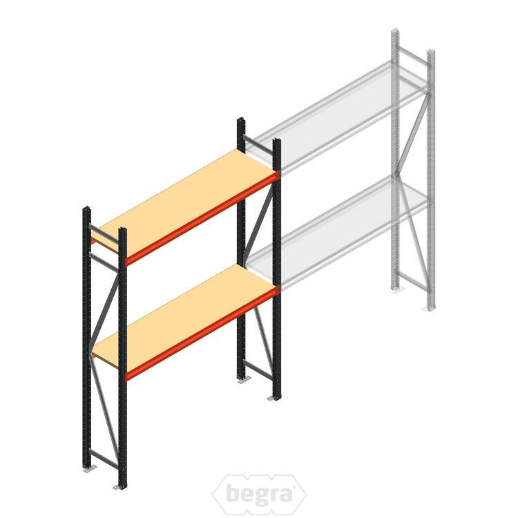 Anfangabschnitt AR Weitspannregal 2250x1610x500 - 2 Ebenen