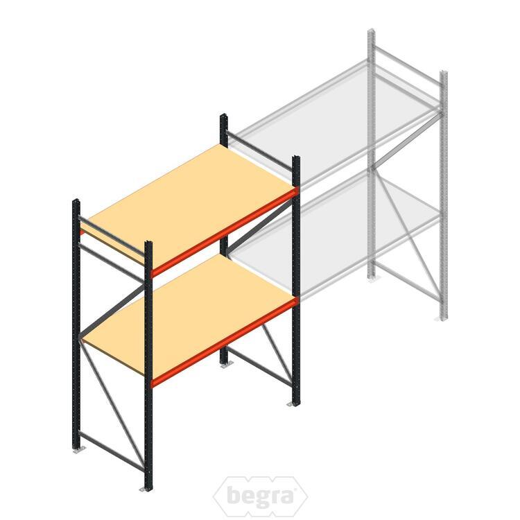 Anfangabschnitt AR Weitspannregal 2250x1610x800 - 2 Ebenen