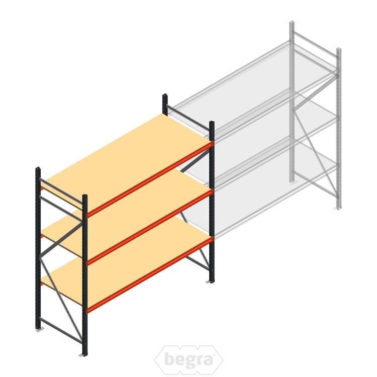 Anfangabschnitt AR Weitspannregal 2250x1850x800 - 3 Ebenen