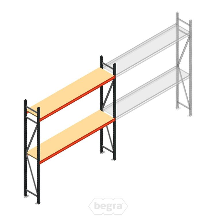 Anfangabschnitt AR Weitspannregal 2250x2250x500 - 2 Ebenen