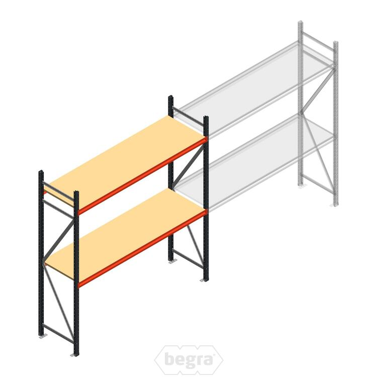 Anfangabschnitt AR Weitspannregal 2250x2250x600 - 2 Ebenen