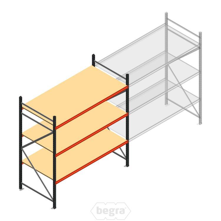 Anfangabschnitt AR Weitspannregal 2250x2250x900 - 3 Ebenen