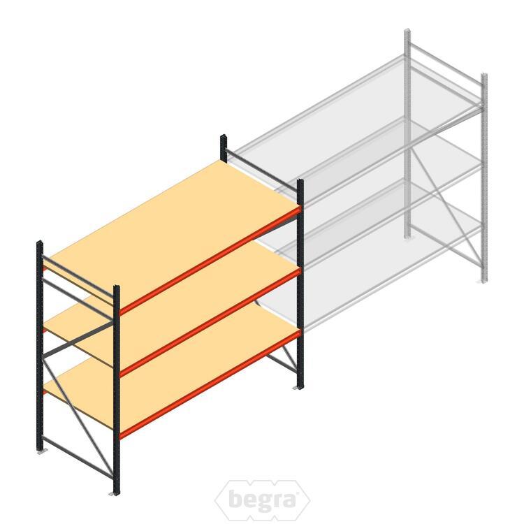 Anfangabschnitt AR Weitspannregal 2250x2700x1000 - 3 Ebenen