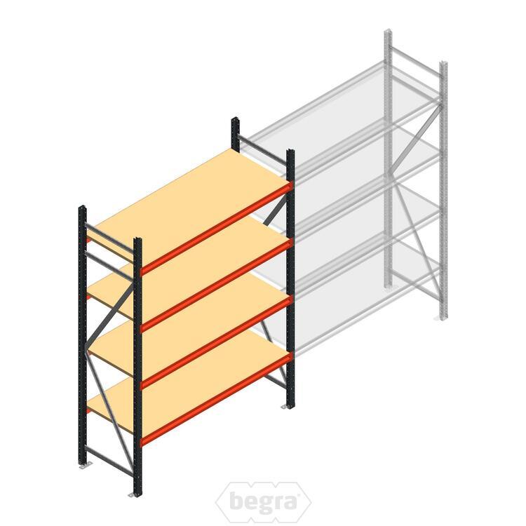 Anfangabschnitt AR Weitspannregal 2500x1500x600 - 4 Ebenen
