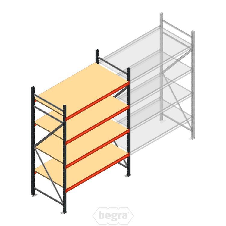 Anfangabschnitt AR Weitspannregal 2500x1500x800 - 4 Ebenen