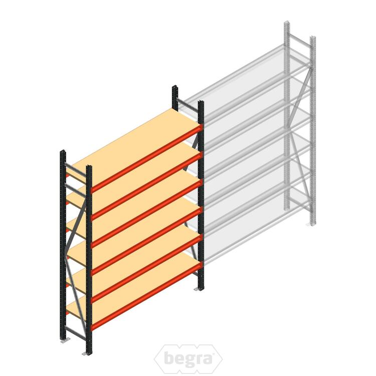 Anfangabschnitt AR Weitspannregal 2500x1610x500 - 6 Ebenen