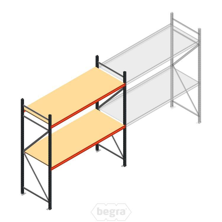 Anfangabschnitt AR Weitspannregal 2500x1850x800 - 2 Ebenen