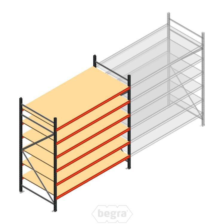 Anfangabschnitt AR Weitspannregal 2500x1850x900 - 6 Ebenen