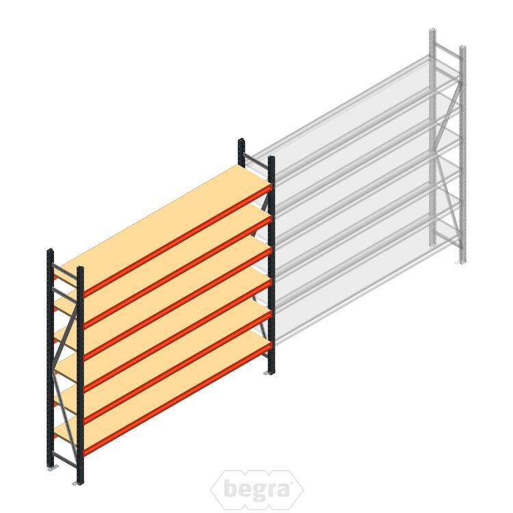 Anfangabschnitt AR Weitspannregal 2500x2700x400 - 6 Ebenen