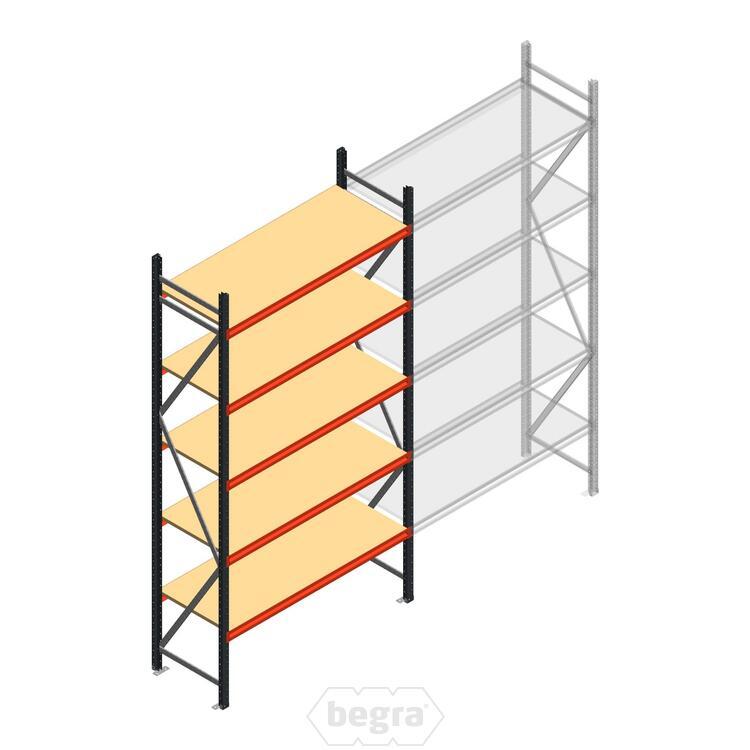 Anfangabschnitt AR Weitspannregal 3000x1500x600 - 5 Ebenen