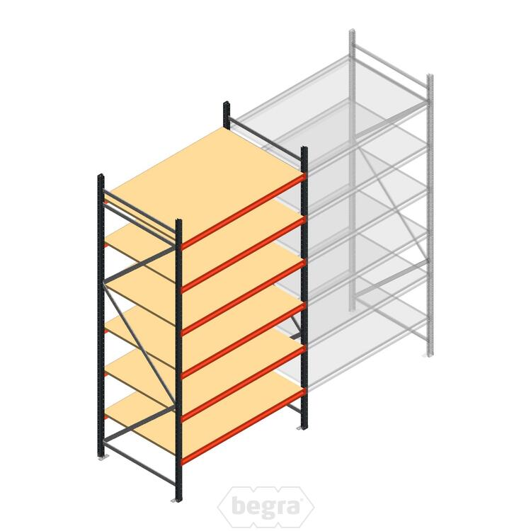 Anfangabschnitt AR Weitspannregal 3000x1610x1000 - 6 Ebenen