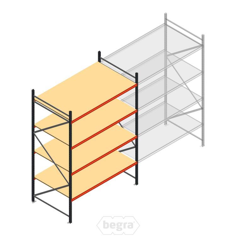 Anfangabschnitt AR Weitspannregal 3000x1850x1200 - 4 Ebenen