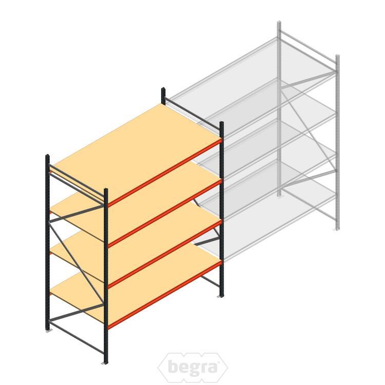 Anfangabschnitt AR Weitspannregal 3000x2700x1200 - 4 Ebenen