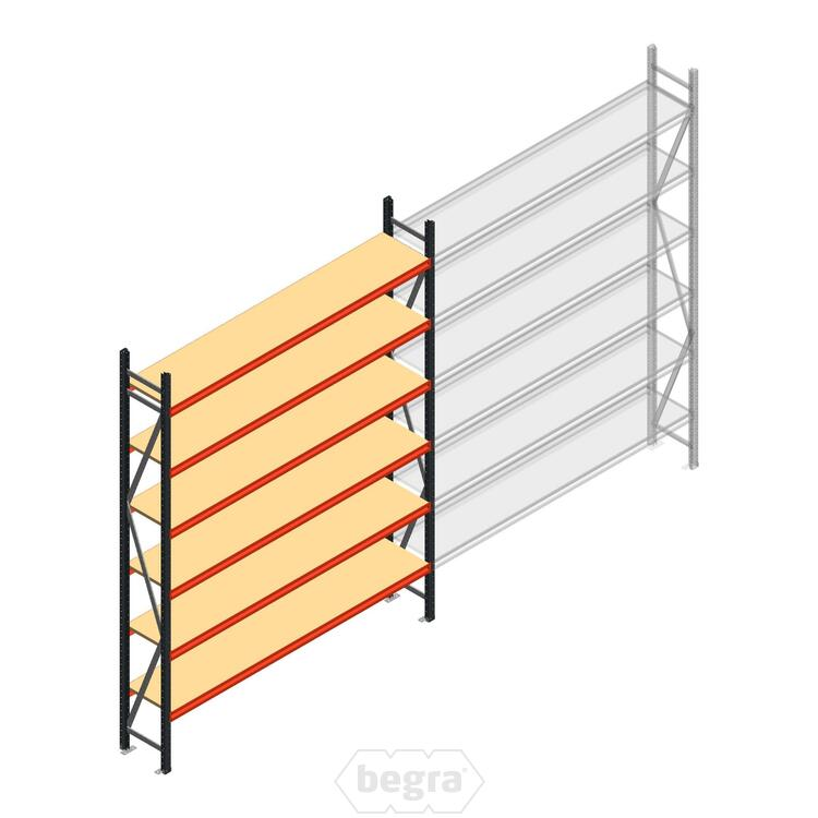Anfangabschnitt AR Weitspannregal 3000x2700x500 - 6 Ebenen