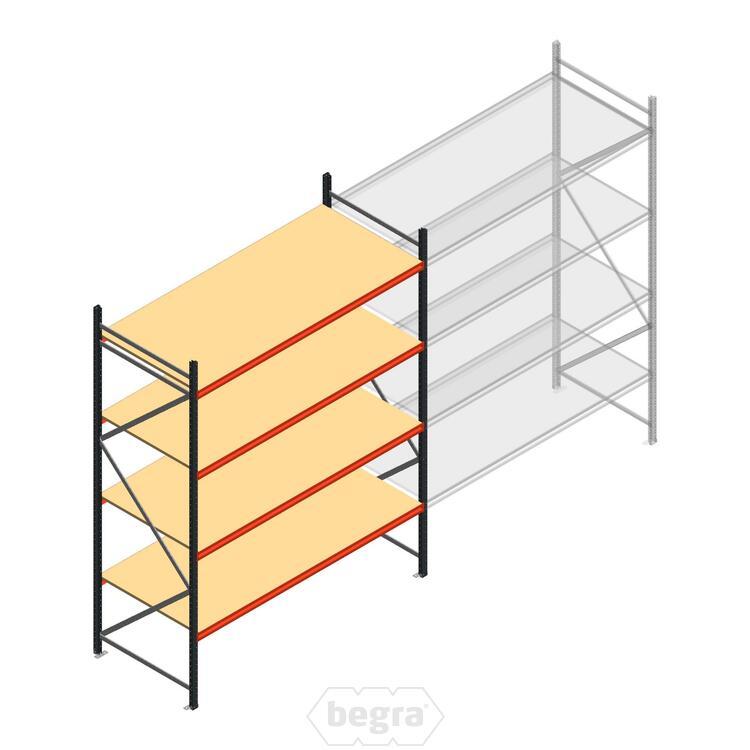 Anfangabschnitt AR Weitspannregal 3000x2700x900 - 4 Ebenen