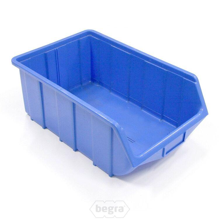 Sichtlagerkästen, Stapelboxen, Lagerboxen Kunststoff T1, 515x330x200 blau