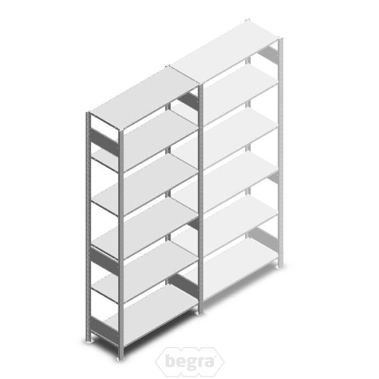 Fachbodenregal, Steckregal aus Metall 2500x1000x400 250 kg Verzinkt, Anfangabschnitt
