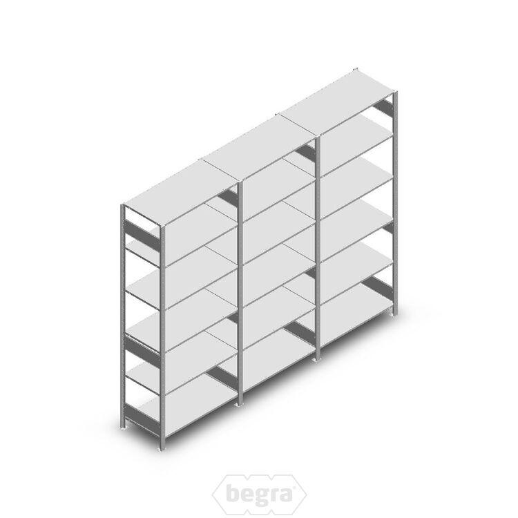 Angebot Reihe Fachbodenregal, Steckregal Metall Heavy Duty 2500x3000x500, 6 Ebenen Verzinkt 250 kg