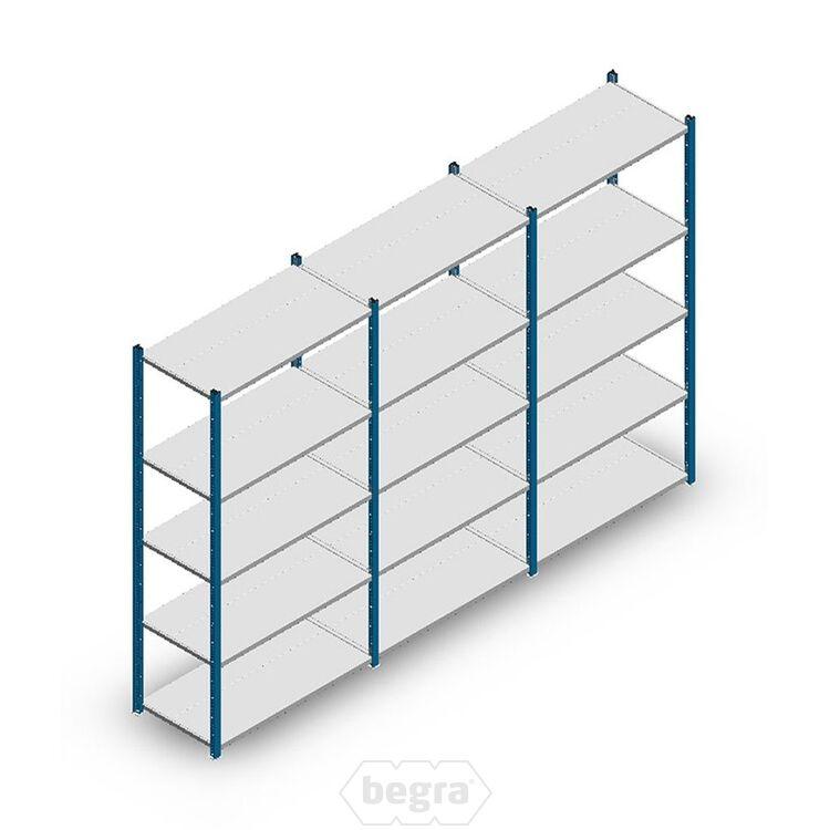 Angebot Reihe Fachbodenregal, Steckregal Metall Medium Duty 2000x3000x500, 5 Ebenen Blau 75 kg