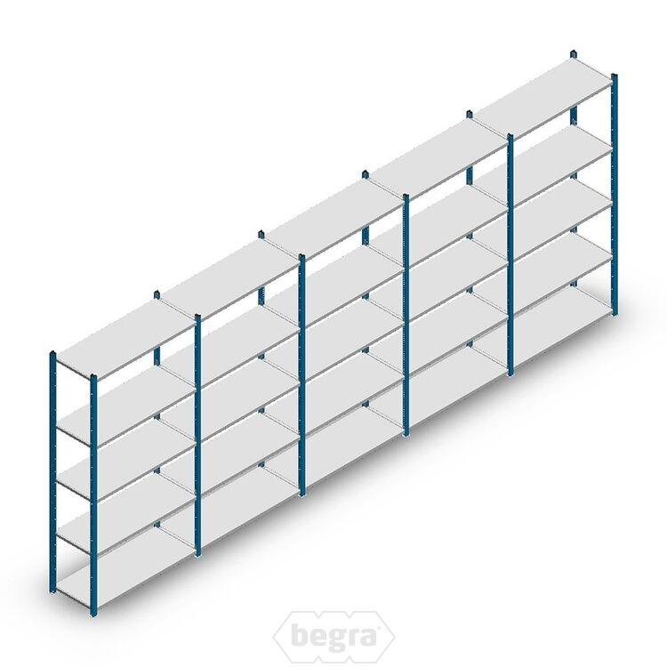 Angebot Reihe Fachbodenregal, Steckregal Metall Medium Duty 2000x5000x400, 5 Ebenen Blau 90 kg