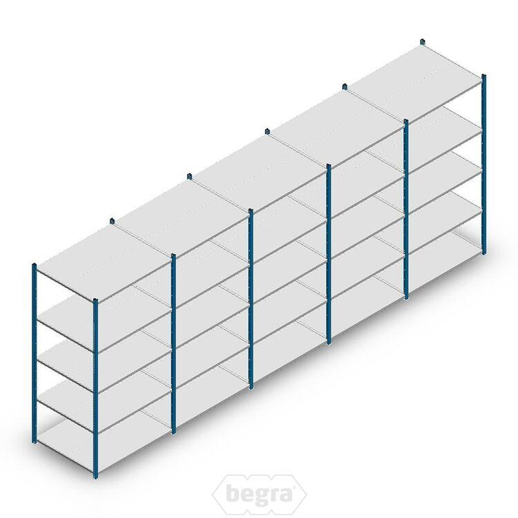 Angebot Reihe Fachbodenregal, Steckregal Metall Medium Duty 2000x5000x800, 5 Ebenen Blau 180 kg