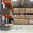 Angebotsreihe Schweres Kragarmregal doppelseitig 5000x4890 mm (hxb) Armlänge 1200 mm - 4 Ebenen