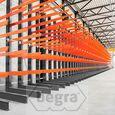 Schweres Kragarmregal doppelseitig 4000 x 1200 x 1200 Anbausektion