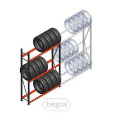Reifenregal Weitspann AR 2250x1500x400 mm (hxbxd) 3 Ebenen Anthrazit Anfangabschnitt