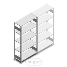 Fachbodenregal, Steckregal aus Metall 2000x1000x400 150 kg Verzinkt, Anfangabschnitt