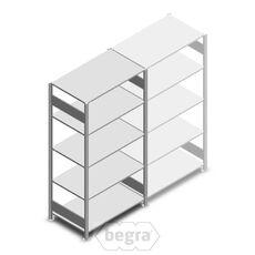 Fachbodenregal, Steckregal aus Metall 2000x1000x600 150 kg Verzinkt, Anfangabschnitt