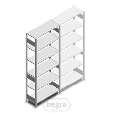 Fachbodenregal, Steckregal aus Metall 2500x1000x400 150 kg Verzinkt, Anfangabschnitt