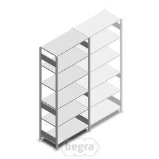 Fachbodenregal, Steckregal aus Metall 2500x1000x500 250 kg Verzinkt, Anfangabschnitt
