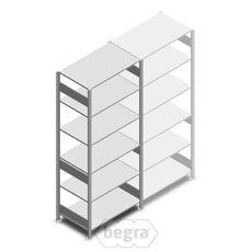 Fachbodenregal, Steckregal aus Metall 2500x1000x600 250 kg Verzinkt, Anfangabschnitt