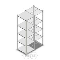 Fachbodenregal, Steckregal Metall Light Duty Light Duty 2000x550x600, 5 Ebenen Verzinkt, 160 kg Anfangabschnitt