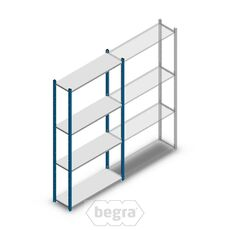 Fachbodenregal, Steckregal Metall Medium Duty 2000x1000x300, 4 Ebenen Blau, 90 kg Anfangabschnitt