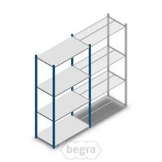 Fachbodenregal, Steckregal Metall Medium Duty 2000x1000x500, 4 Ebenen Blau, 75 kg Anfangabschnitt