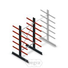 Medium Kragarmregal doppelseitig 2500 x 1250 x 600 Anfanssektion