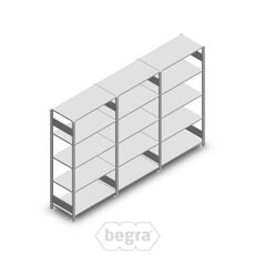 Angebot Reihe Fachbodenregal, Steckregal Metall Heavy Duty 2000x3000x500, 5 Ebenen Verzinkt 250 kg