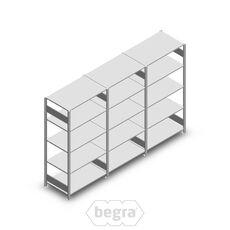 Angebot Reihe Fachbodenregal, Steckregal Metall Heavy Duty 2000x3000x600, 5 Ebenen Verzinkt 250 kg