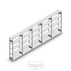 Angebot Reihe Fachbodenregal, Steckregal Metall Heavy Duty 2000x5000x300, 5 Ebenen Verzinkt 150 kg