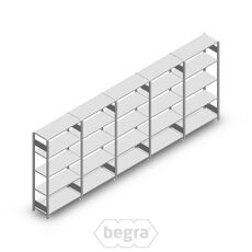 Angebot Reihe Fachbodenregal, Steckregal Metall Heavy Duty 2000x5000x400, 5 Ebenen Verzinkt 150 kg