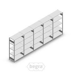 Angebot Reihe Fachbodenregal, Steckregal Metall Heavy Duty 2000x5000x500, 5 Ebenen Verzinkt 150 kg