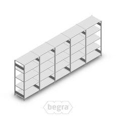 Angebot Reihe Fachbodenregal, Steckregal Metall Heavy Duty 2000x5000x600, 5 Ebenen Verzinkt 250 kg