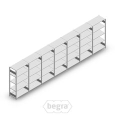 Angebot Reihe Fachbodenregal, Steckregal Metall Heavy Duty 2000x7000x500, 5 Ebenen Verzinkt 250 kg