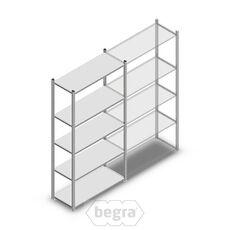 Fachbodenregal, Steckregal Metall Medium Duty 2000x1000x400, 5 Ebenen Verzinkt, 90 kg Anfangabschnitt