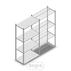 Fachbodenregal, Steckregal Metall Medium Duty 2000x1000x500, 4 Ebenen Verzinkt, 75 kg Anfangabschnitt
