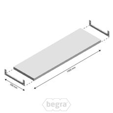 Ebene Light Duty Fachbodenregal 1000x300mm (bxd)