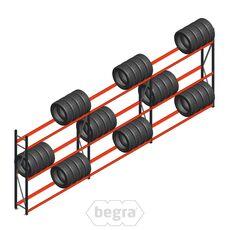 Angebot Reihe Weitspann Reifenregal  AR 2250x6240x400 mm (hxbxd) 3 Abschnitte 3 Ebenen Anthrazit